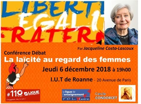 Conférence Jacqueline Costa Lascoux Roanne